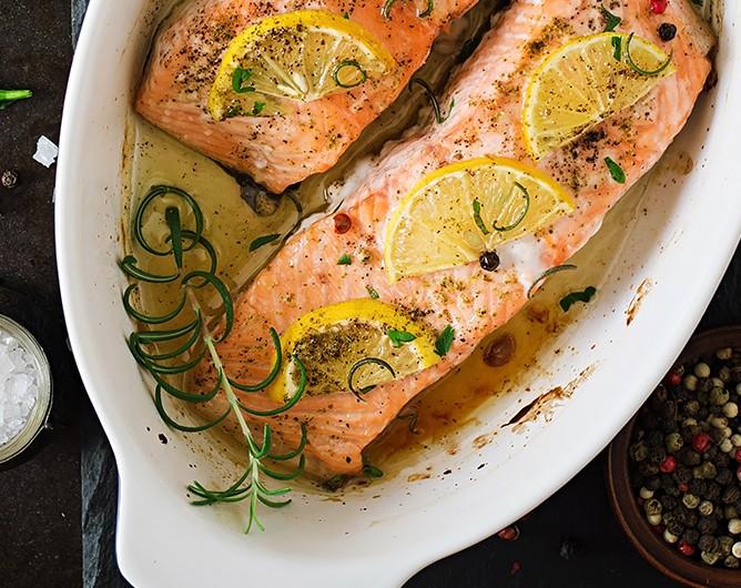 Bild zum Beitrag 'Lachs aus dem Ofen'