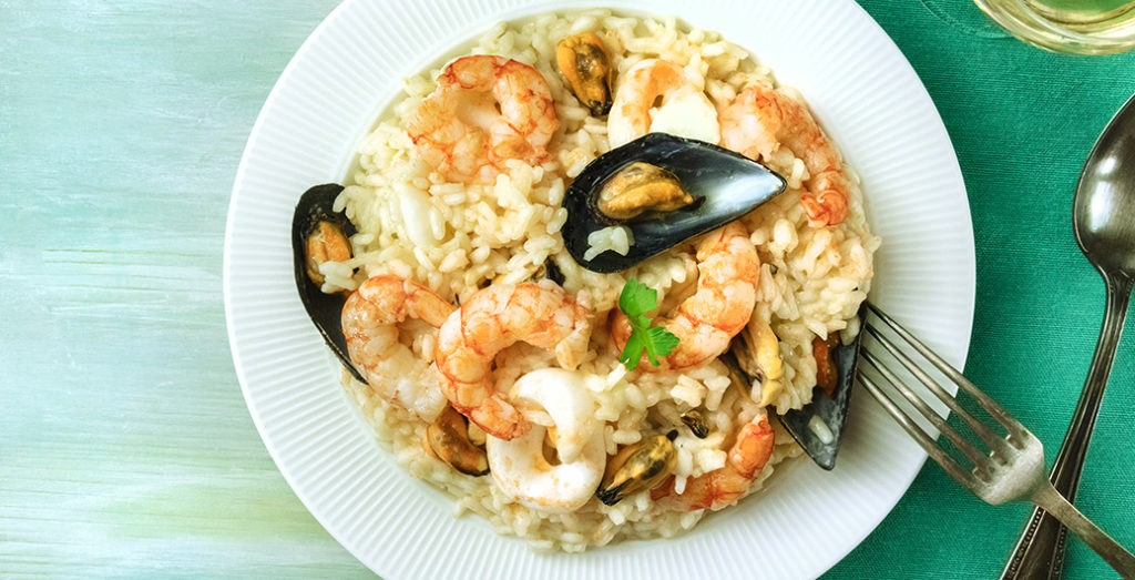 Bild zum Beitrag 'Risotto mit Meeresfrüchten'