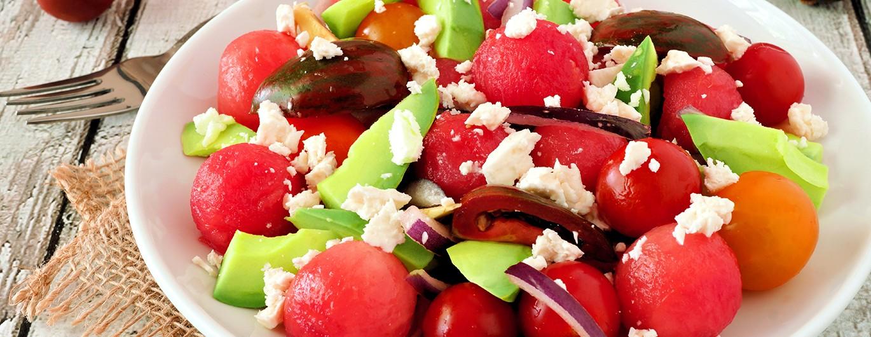 Bild zum Beitrag 'Gurken-Melonen-Salat'