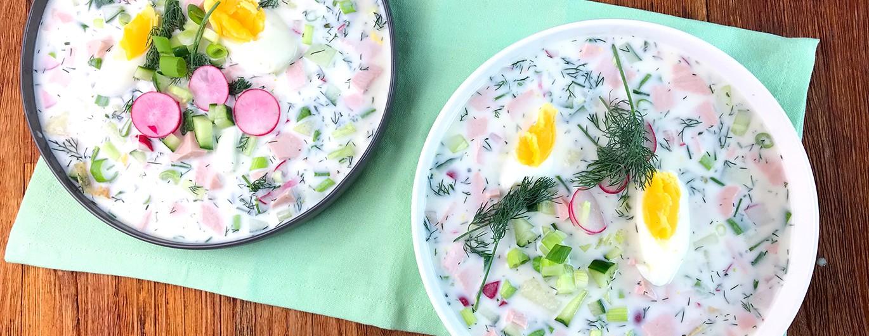 Bild zum Beitrag 'Okroschka – eine russische Sommersuppe'